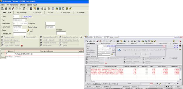 kriter software. Seguiment comandes