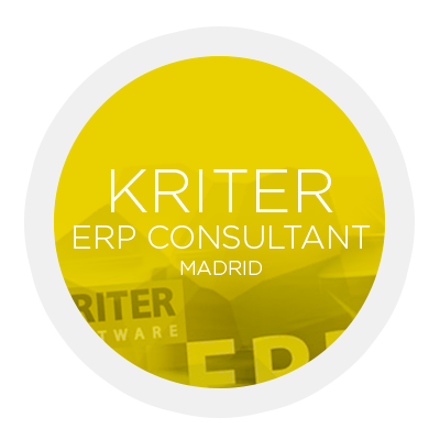KRITER ERP Consultant Madrid. Software. CRM